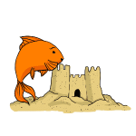 Goldfish sand substrate