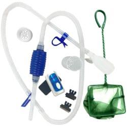 An aquarium cleaning kit