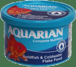 Goldfish flake food by Aquarian